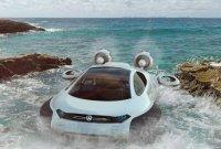 Автомобиль Volkswagen Aqua на воздушной подушке