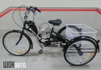 Трёхколёсный грузовой велосипед с мотором F-80