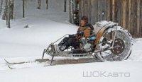 Самодельный снегоход из Вятки