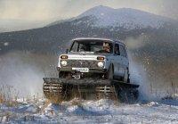 Снегоболотоход Метелица из легкового автомобиля