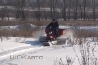 Снегоход из грузового мотороллера Муравей