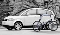 Электровелосипед Audi с педалями из кевлара
