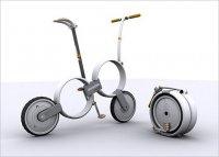 Концептуальный велосипед-чемодан One