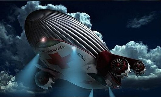 Дирижабль Архангел для спасательных операций