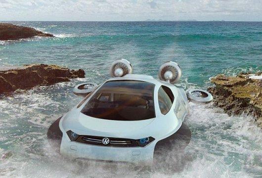 Volkswagen Aqua на воздушной подушке