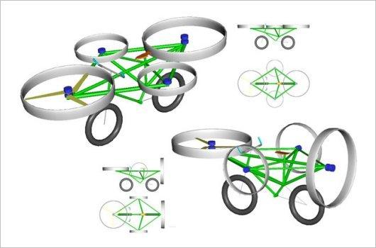 Летающий велосипед с электромоторами