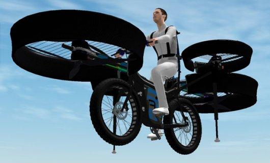 Летательный велоаппарат с электродвигателями