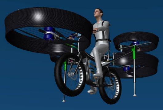 Летающий велосипед на электрической тяге