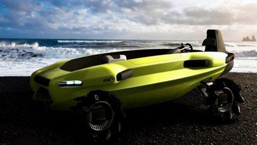 Автомобиль-амфибия для пляжных спасателей