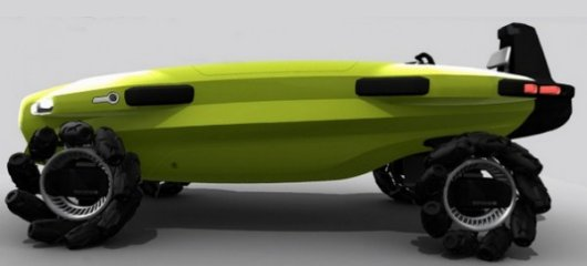 Пляжный плавающий автомобиль для спасателей