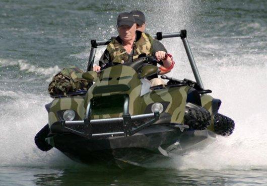 Плавающий мотовездеход Quadski