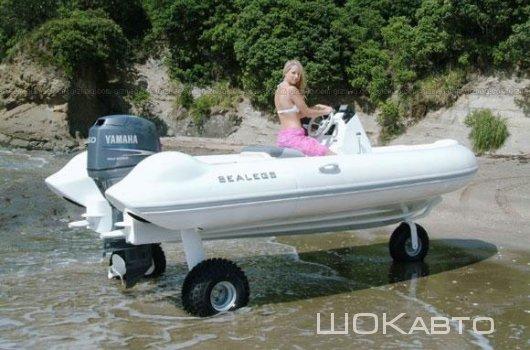 Самоходные лодки на колесах
