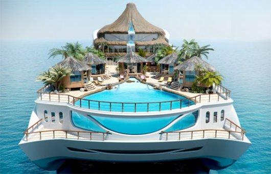 Yacht Tropical Island Paradise