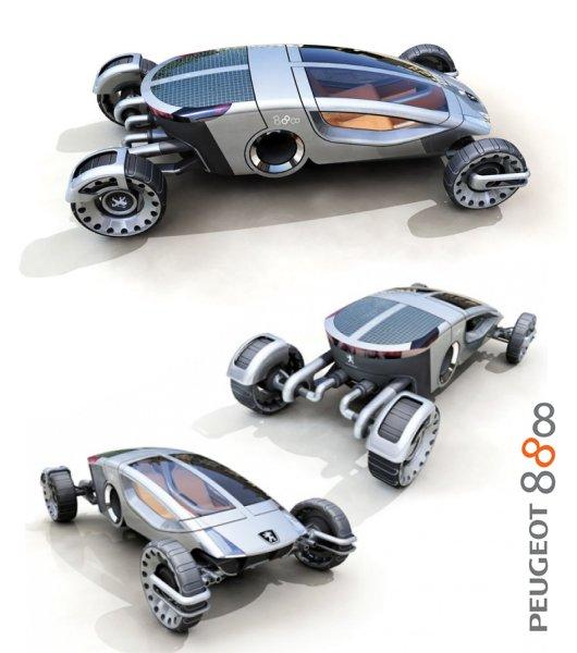 Складной автомобиль Пежо 888 на все случае жизни