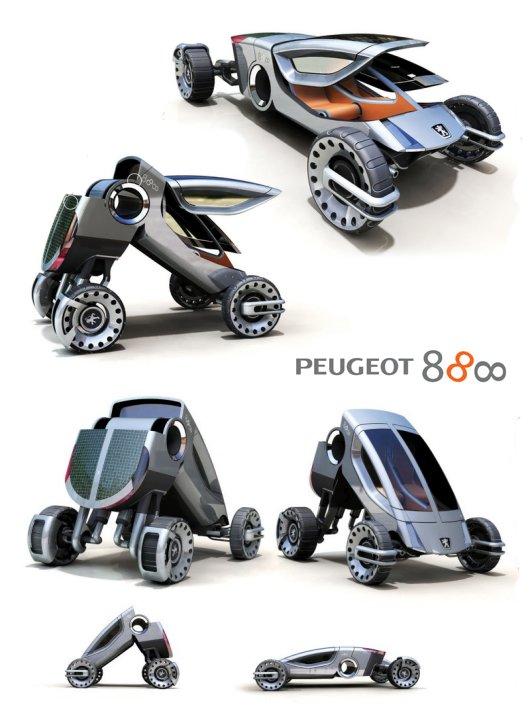 Автомобиль-трансформер Peugeot-888
