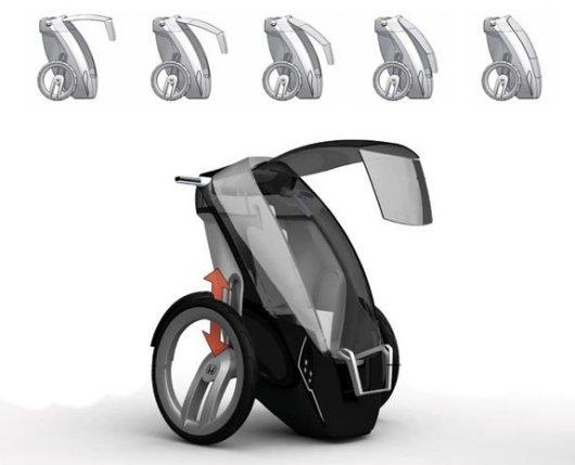 Одноместный электромобиль Honda type E