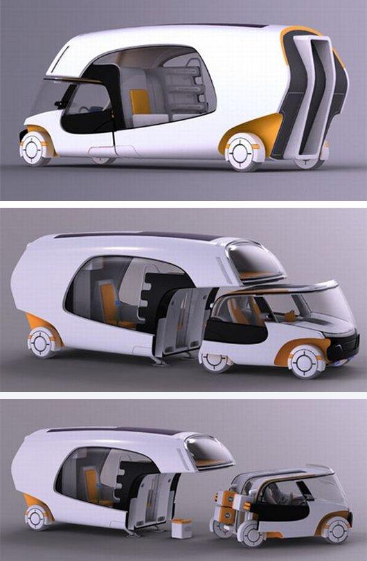 Модульный фургон RV для путешествий