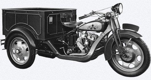 Трехколесный грузовой мотоцикл Mazda