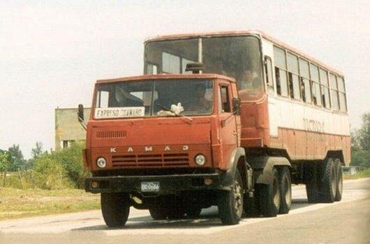 Как сделать автобус из КамАЗа и Икаруса