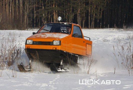 Снегоход из малолитражки Ока
