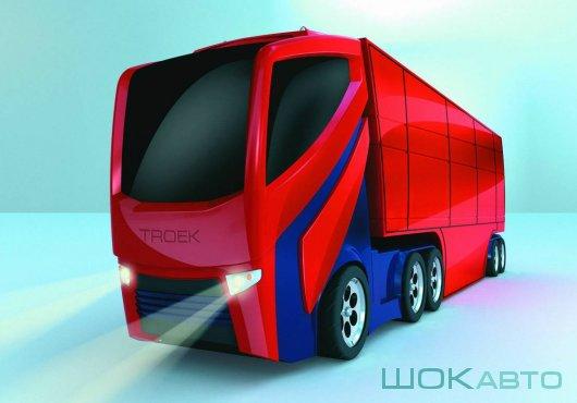 Грузовой автомобиль Troek 2020 с полуприцепом