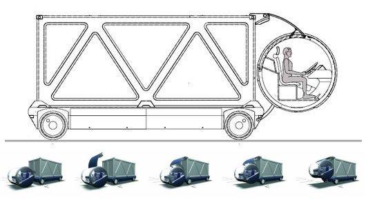 Модульный контейнеровоз Мерседес (Два в Одном)