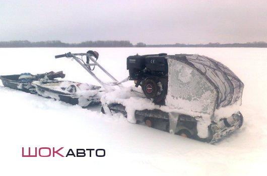 Мотобуксировщики Снежок