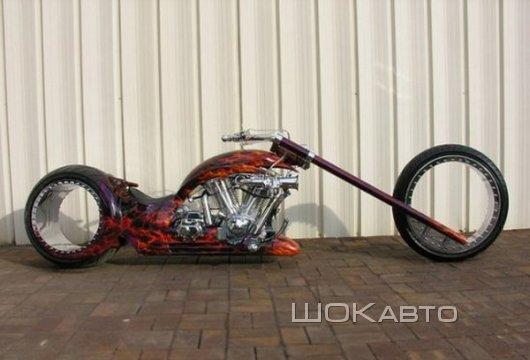 Байк Hubless Monster с колесами без спиц