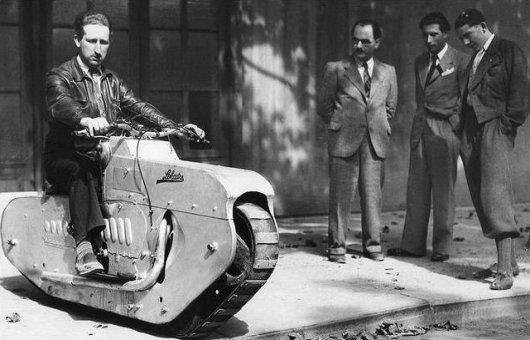 Гусеничный мотоцикл Lehaitre