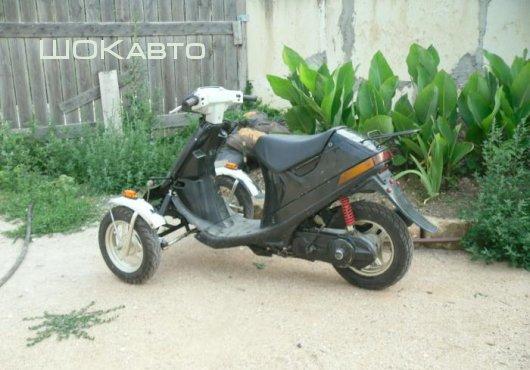 Трехколесный скутер из Suzuki Sepia своими силами