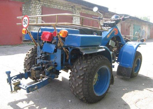Харьковский квадроцикл-мотовездеход ЗИМ-350
