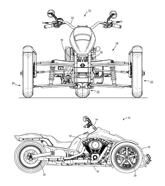 Трицикл Harley-Davidson Tri
