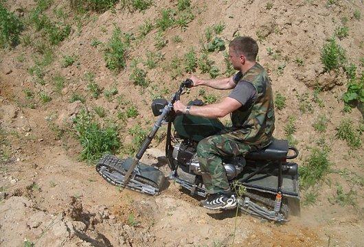 Мотоцикл-вездеход А-тех