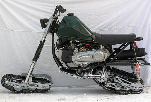 Мотоцикл на гусеницах А-тех