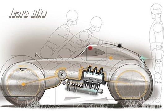 Проект спортивного мотоцикла Icare