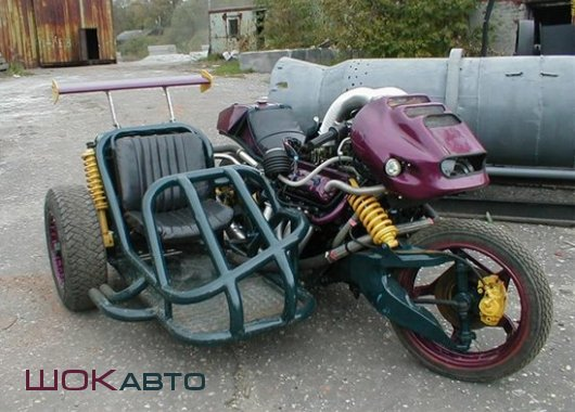 Мотоцикл с двигателем от грузовика ГАЗ-53