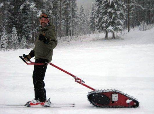 Мотобуксировщик для лыжника Skizee