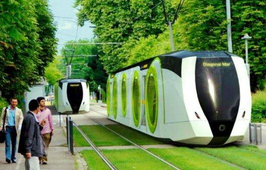 Футуристический трамвай