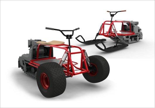 Лыжные и колесные модули для мотобуксировщиков