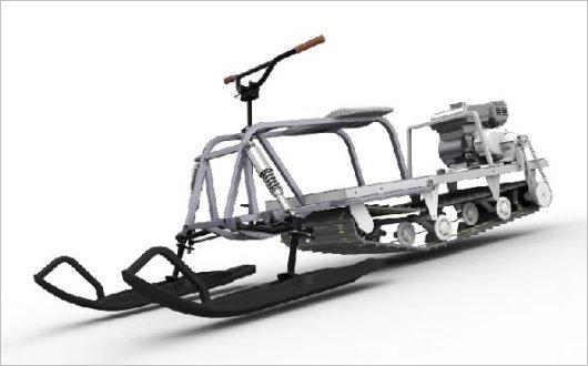 Лыжный модуль к мотобуксировщику