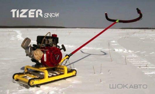 Мототолкатель для лыжника Тизер