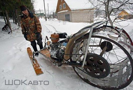Снегоход-самоделка