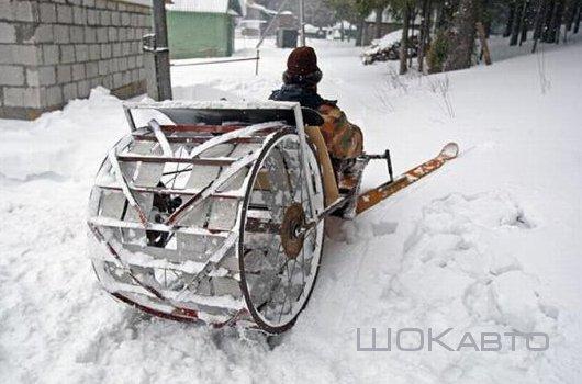 Самодельные снегоходы