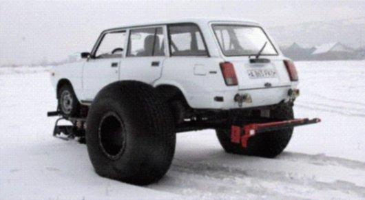 Снегоход SnowFootCar из ВАЗ 2104