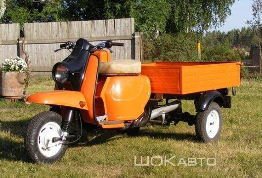 Советский грузовой мотороллер Муравей в наше время