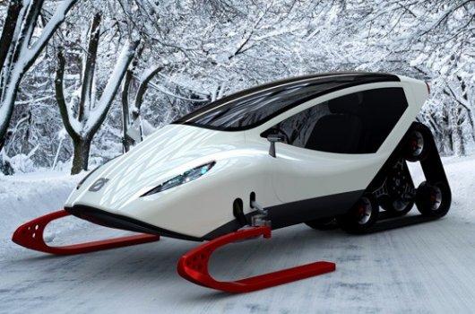 Электрический снегоход Snowmobile с кабиной