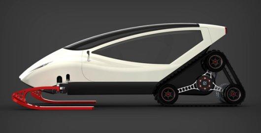 Электроснегоход Snowmobile с кабиной