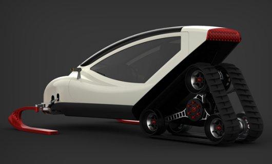 Снегомобиль Snowmobile с электродвигателем