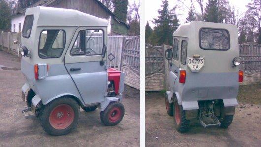 Мини-трактор-автомобиль МотоблокочетвертьУАЗ