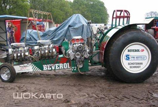 Гоночный трактор драгстер